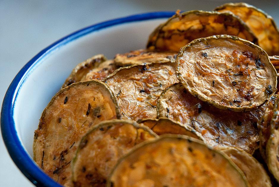 Lalakitchen Chips de Calabacín con Chimichurri