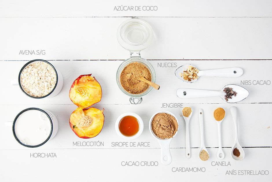desayuno porridge avena sin gluten chufa vegano